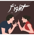couple fight man woman screaming argue shouting to vector image