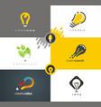 logo design light bulb as main idea vector image