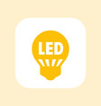 led light bulb icon sign over white vector image