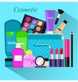 Cosmetic Set Flat Design Object vector image