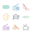 9 electrical icons vector image vector image