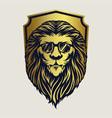 badge animal lion logo mascot vector image vector image