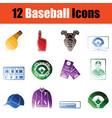 baseballl icon set vector image