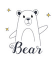 bear for t-shirt and print design vector image vector image