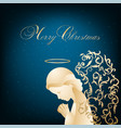 beautiful angel with ornamental wings vector image