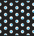 blue and white polka dot abstract seamless vector image vector image