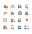 Book Icons Graphite Series vector image vector image