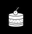 cake dark mode glyph icon vector image vector image
