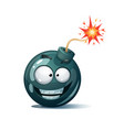 cartoon bomb fuse wick spark tooth icon smile vector image