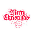 christmas vintage calligraphy vector image vector image
