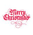 Christmas vintage calligraphy vector image