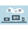 cloud computing 2 vector image vector image