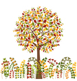 Colorful Autumn Tree and Herb Background vector image vector image