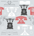colorful seamless pattern with vintage phones vector image vector image