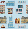 different city public buildings houses set vector image vector image