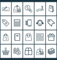 e-commerce icons set with paper bag parcel vector image vector image