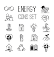 Energy icons set vector image vector image