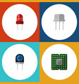 flat icon appliance set of unit resist vector image vector image