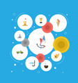 flat icons castle shell fly and other vector image vector image