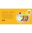 German Cuisine Flat Design Web Banner vector image vector image