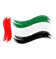 grunge brush stroke with national flag of united vector image