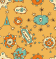 Hand draw abstract seamless pattern vector image vector image