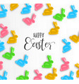 happy easter card colorful candy bunny vector image vector image
