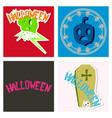 happy halloween design elements halloween design vector image vector image