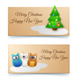 holiday winter horizontal banners vector image
