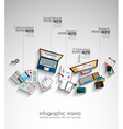 Ideal Workspace for teamwork and brainstorming vector image vector image