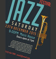jazz festival poster 6 vector image