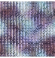 Knitted pattern with the melange effect vector image vector image