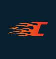letter c flame logo speed logo design concept vector image vector image