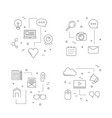 line blog icons infographic concept vector image
