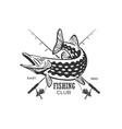 logos on a fishing theme fishing vector image