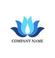 lotus business logo vector image vector image