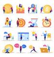 management goals icon set vector image vector image