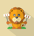 Modern Flat Design Lion Icon vector image vector image