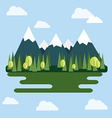 Mountain Landscape at Daytime vector image