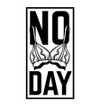 no bra day placard with hand drawn of bra vector image