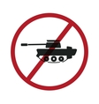 No tanks symbol vector image