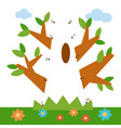 numbers game for children oak vector image vector image