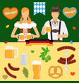 oktoberfest icons germany beer festival vector image