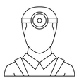 Ophthalmologist icon outline style vector image vector image