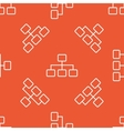 Orange scheme pattern vector image vector image