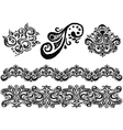 ornament line vector image