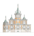 Orthodox church facade vector image