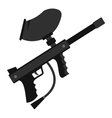 Paintball marker gun icon flat style vector image vector image