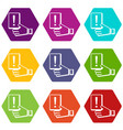 penalty card icons set 9 vector image