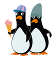 penguins and ice cream vector image vector image